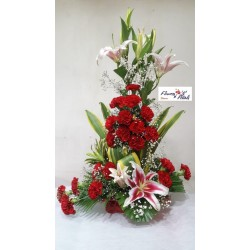 Lily and cardnation Arrangement