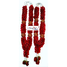 Red Rose Petals With Tissue Boll Garlands