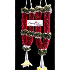 Red Rose Petals With Pearl & Gerbera Garlands