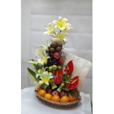 Flower Arrangement with Fresh Fruit
