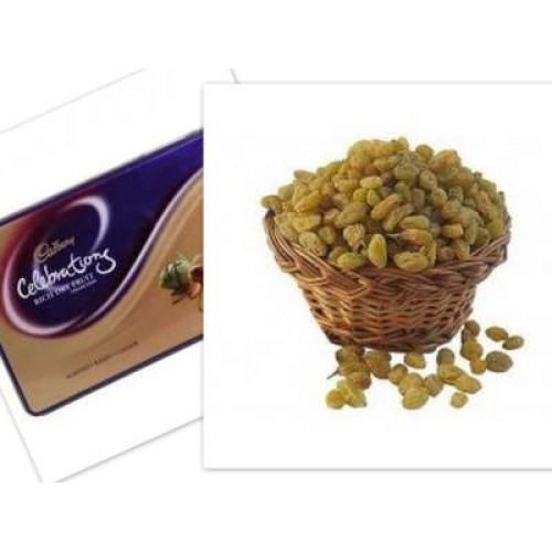 Raisins with celebration box