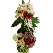 Lilium With Orchids Arrangement