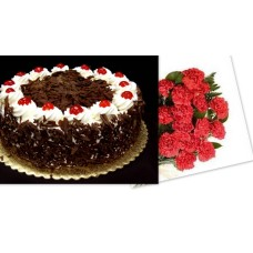 Black Forest + 12 Red Carantions