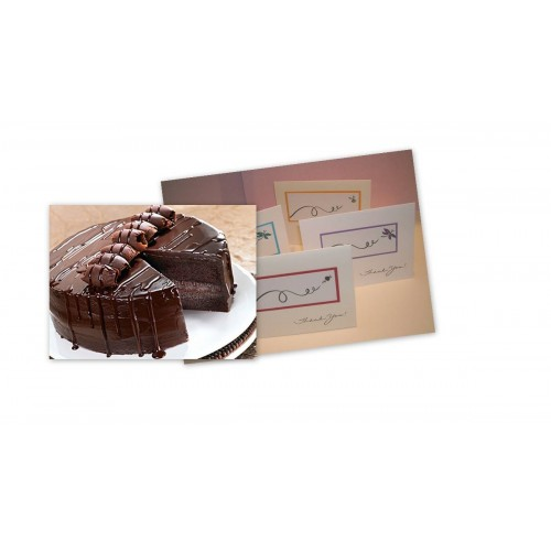 Chocolate Cake and Greeting cards