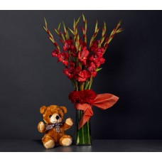 Gladiolus + Soft Toy