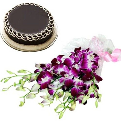 Orchids + Cake
