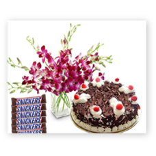 Orchids + Cake + Chocolates