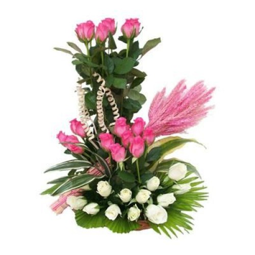White and Pink Arrangement