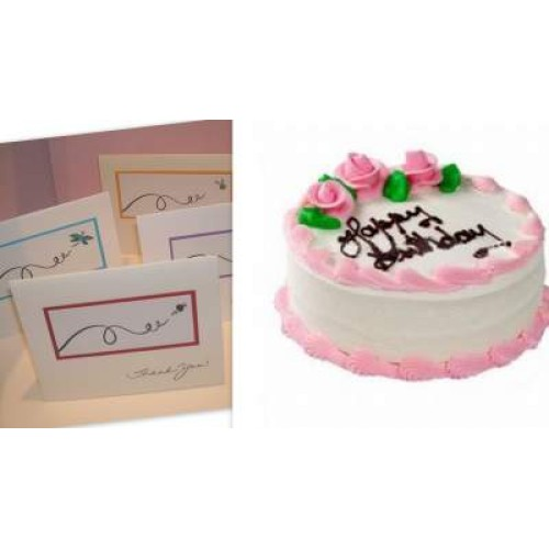 Vanilla Cake with greeting card